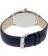 Casio Men's MTPE114L-2A Navy Leather Quartz Watch - Back Image Swatch