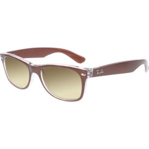 Ray-Ban Men's Gradient New Wayfarer RB2132-614585-52 Brown Square Sunglasses