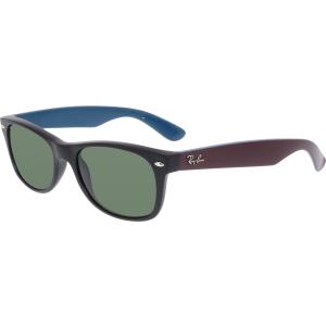 Ray-Ban Men's New Wayfarer RB2132-6182-52 Black Rectangle Sunglasses