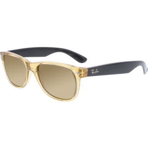 Ray-Ban Men's Polarized New Wayfarer RB2132-945/57-55 Honey Square Sunglasses