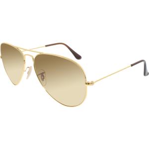 Ray-Ban Men's Gradient Aviator RB3025-001/M2-58 Gold Aviator Sunglasses