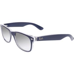 Ray-Ban Men's Gradient New Wayfarer RB2132-6053M3-55 Blue Square Sunglasses