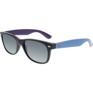 Ray-Ban Men's Gradient New Wayfarer RB2132-618371-55 Black Rectangle Sunglasses