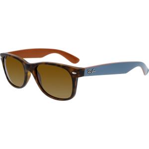 Ray-Ban Men's New Wayfarer RB2132-6179-55 Brown Rectangle Sunglasses