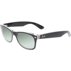Ray-Ban Women's Polarized New Wayfarer RB2132-605258-52 Black Square Sunglasses