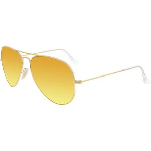 Ray-Ban Men's Polarized Aviator RB3025-112/4D-58 Gold Aviator Sunglasses