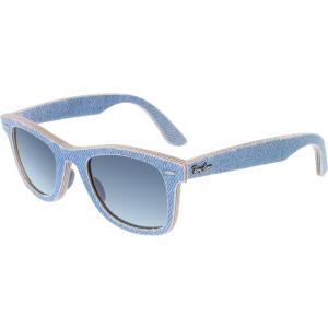 Ray-Ban Women's Gradient Original Wayfarer RB2140-11644M-50 Blue Square Sunglasses