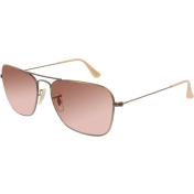 Ray-Ban Men's Mirrored Caravan RB3136-167/2K-58 Gold Square Sunglasses