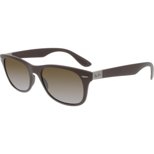 Ray-Ban Men's Gradient New Wayfarer Liteforce RB4207-6033T5-52 Brown Rectangle Sunglasses