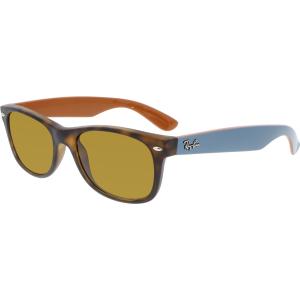 Ray-Ban Men's New Wayfarer RB2132-6179-52 Brown Rectangle Sunglasses