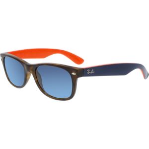 Ray-Ban Men's New Wayfarer RB2132-6180R5-52 Brown Rectangle Sunglasses