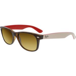 Ray-Ban Men's Gradient New Wayfarer RB2132-618185-55 Brown Rectangle Sunglasses