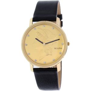 Bulova Men's 97D105 Black Leather Quartz Watch