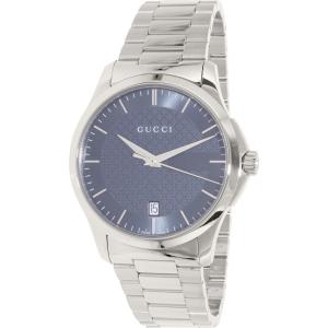 Gucci Men's G-Timeless YA126441 Silver Stainless-Steel Swiss Quartz Watch