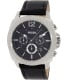Fossil Men's Privateer BQ1731 Black Leather Quartz Watch - Main Image Swatch