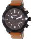 Fossil Men's BQ2056 Brown Leather Quartz Watch - Main Image Swatch