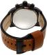 Fossil Men's BQ2056 Brown Leather Quartz Watch - Back Image Swatch