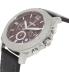 Fossil Men's BQ2059 Black Leather Quartz Watch - Side Image Swatch
