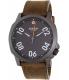 Nixon Men's Ranger 45 A4662072 Gunmetal Leather Quartz Watch - Main Image Swatch