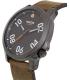 Nixon Men's Ranger 45 A4662072 Gunmetal Leather Quartz Watch - Side Image Swatch