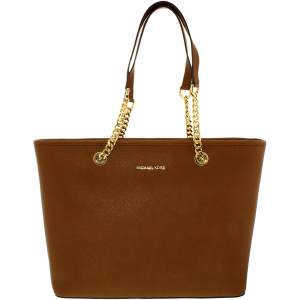 Michael Kors Women's Jet Set Top Zip Saffiano Leather Leather Top-Handle Tote
