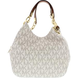 Michael Kors Women's Large Fulton Logo  Bag Leather Shoulder Tote