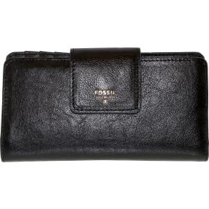 Fossil Women's Sydney Tab Clutch Leather Wallet Baguette