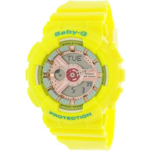 Casio Women's Baby-G BA110CA-9A Yellow Plastic Quartz Watch
