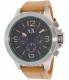 Armani Exchange Men's AX1516 Tan Leather Quartz Watch - Main Image Swatch