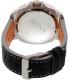 Hugo Boss Men's Sao Paulo 1513295 Black Leather Quartz Watch - Back Image Swatch