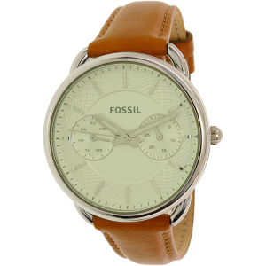 Fossil Women's Tailor ES3977 Brown Leather Quartz Watch