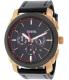 Fossil Men's Machine FS5120 Black Leather Quartz Watch - Main Image Swatch