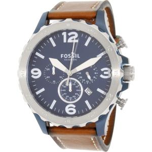 Fossil Men's Nate JR1504 Brown Leather Quartz Watch