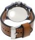 Fossil Men's Nate JR1504 Brown Leather Quartz Watch - Back Image Swatch
