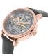 Fossil Women's Original Boyfriend ME3089 Grey Leather Automatic Watch - Side Image Swatch