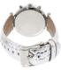 Michael Kors Women's Sawyer MK2443 Silver Leather Quartz Watch - Back Image Swatch