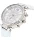 Michael Kors Women's Sawyer MK2443 Silver Leather Quartz Watch - Side Image Swatch