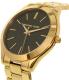 Michael Kors Women's Slim Runway MK3478 Gold Stainless-Steel Quartz Watch - Side Image Swatch