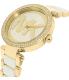 Michael Kors Women's Parker MK6313 Gold Stainless-Steel Quartz Watch - Side Image Swatch