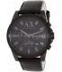 Armani Exchange Men's AX2507 Black Leather Quartz Watch - Main Image Swatch