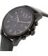 Armani Exchange Men's AX2507 Black Leather Quartz Watch - Side Image Swatch