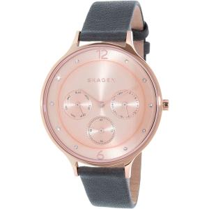 Skagen Women's Anita SKW2392 Grey Leather Quartz Watch
