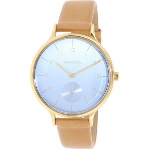 Skagen Women's Anita SKW2407 Brown Leather Quartz Watch