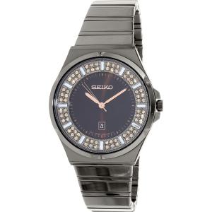 Seiko Women's SXDG35 Gunmetal Stainless-Steel Quartz Watch