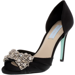 Betsey Johnson Women's Gown Satin Ankle-High Fabric Pump