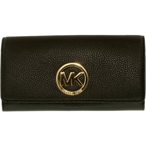 Michael Kors Women's Fulton Carryall Leather Wallet Baguette