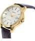 Casio Men's MTPV004GL-9A Brown Leather Quartz Watch - Side Image Swatch