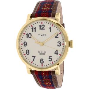 Timex Men's Heritage TW2P69600 Multi Brown Leather Quartz Watch