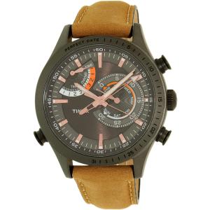 Timex Men's Intelligent Quartz TW2P72500 Guava Leather Analog Quartz Watch