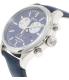 Timex Men's Heritage TW2P75400 Navy Suede Quartz Watch - Side Image Swatch